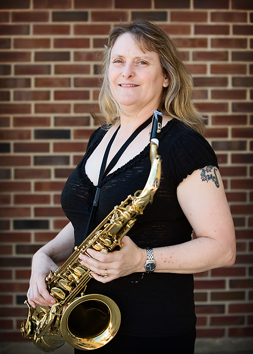Cathy James - Lead Tenore Sax - Rock River Jazz Band